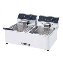 Adcraft DF-6L-2 Double Tank Deep Fryer