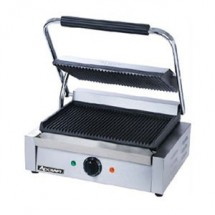 Adcraft SG-811E Grooved Single Panini Grill