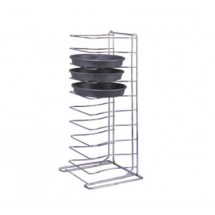 Allied Metal PTR11 11 Shelf Heavy Duty Chrome Plated Steel Wire Tray Rack