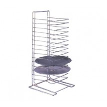 Allied Metal PTR15 15 Shelf Heavy Duty Chrome Plated Steel Wire Tray Rack