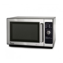 Amana RCS10DS 1000 Watt Stainless Commercial Microwave with 6 Minute Dial Timer