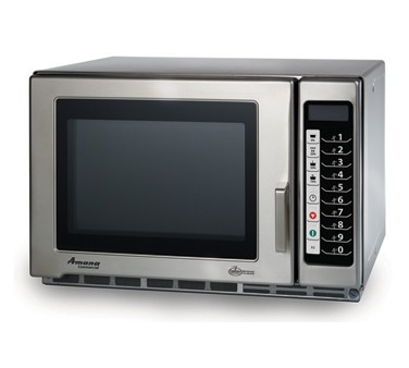 Amana RFS12TS Countertop 1200 Watt Programmable Stainless Commercial Microwave