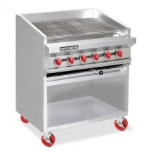 "American Range ADJF-72 72"" W  Adjustable Top Radiant Broilers Floor Model with Open Cabinet Base"