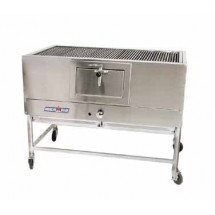 "American Range AMSQ-30 Mesquite 30"" Wide Broiler with a Gas Log Starter"