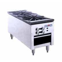 American Range ARSP-18-2 Gas Stock Pot Range with (2) 3 Ring Burners