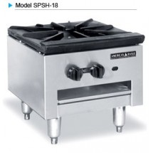 "American Range SPSH-18 Single 18"" Gas Stock Pot Range With 3-Ring Style Burners"