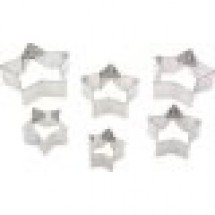 Ateco 7805 6 Piece Plain Star Cutter set