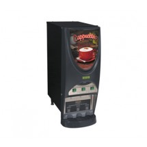 BUNN 38600.0001 Silver Series Powdered Cappuccino Dispenser with 3 Hoppers - Black