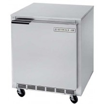 "Beverage Air UCR27A  Stainless Steel Rear-Mounted 27"" x 29-1/4"" Undercounter Refrigerator"