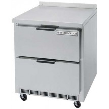 "Beverage Air WTRD27A-2 35.5"" Stainless Steel Top/Removable Rear Splash Worktop Refrigerator"