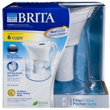 Brita 35455 Bella Water Filter Pitcher, Clear/White