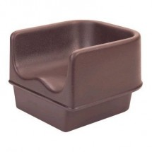 "Cambro 100BC1131 Dark Brown No-strap 11 5/8"" Single Height Booster Seat"