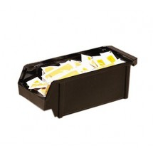 "Cambro 5412CBP131 5"" Dark Brown Organizer Bin"