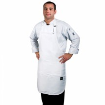 Chef Revival 401BA-NP White No Pocket Bib Apron