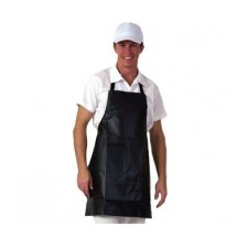Chef Revival 604VBA-E Economy Brown Vinyl Bib Apron