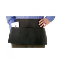 Chef Revival 605PS Black 3-Pocket Waist Apron