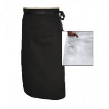 Chef Revival A011BK Black Single Pocket Apron