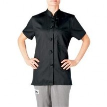 Chefwear 1372-30 Black Women's Mandarin Shirt