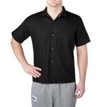 Chefwear 1390-30 Black Short Sleeve Shirt