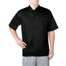 Chefwear 1392-30 Black Mandarin Collar Chef Shirt