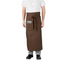 Chefwear 1620-15 Chocolate Bistro Apron with Pocket