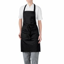 Chefwear 1665-30 Black Three Pocket Apron
