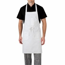 Chefwear 1665-40 White Three Pocket Apron