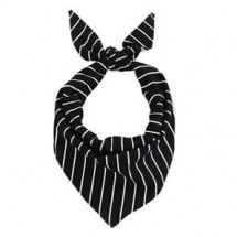 Chefwear 1800-BW Black and White Chalkstripe Neckerchief