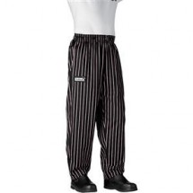 Chefwear 3000-08 Black/Pink Chalkstripe Baggy Chef Pants