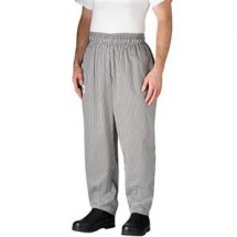 Chefwear 3000-10 Black/White Houndstooth Baggy Chef Pants