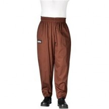Chefwear 3000-15 Chocolate Baggy Chef Pants