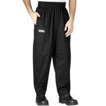 Chefwear 3000-30 Black Baggy Chef Pants