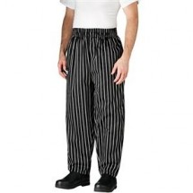 Chefwear 3000-35 Black Chalkstripe Chef Pants