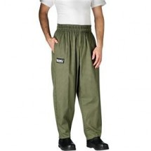 Chefwear 3000-98 Olive Houndstooth Baggy Chef Pants