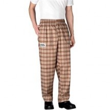 Chefwear 3100-22 Brown Plaid Traditional Chef Pants