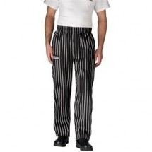 Chefwear 3100-35 Black Chalkstripe Traditional Chef Pants