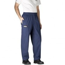 Chefwear 3100-65 Navy and Yellow Pinstripe Traditional Chef Pants
