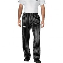 Chefwear 3130-35 Black Chalkstripe Low Rise Boot Cut Pants