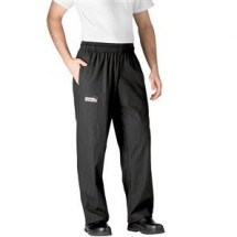 Chefwear 3130-50 Black/Grey Pinstripe Low Rise Boot Cut Pants