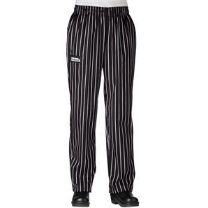 Chefwear 3150-08 Black/Pink Chalkstripe Women's Low Rise Chef Pants