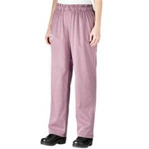 Chefwear 3150-09 Black/Pink Houndstooth Women s Low Rise Chef Pants by