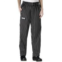 Chefwear 3150-35 Black Chalkstripe Women's Low Rise Chef Pants