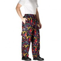 Chefwear 3200-18 Black and Chile Pepper Cargo Pants