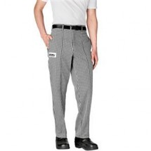 Chefwear 3640-10 Black/White Houndstooth Tailored Chef Pants