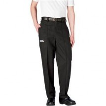 Chefwear 3640-50 Black/Grey Pinstripe Tailored Chef Pants