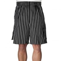 Chefwear 3850-35 Black Chalkstripes Cargo Shorts