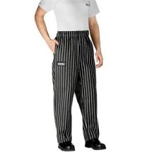 Chefwear 3900-35 Black Chalkstripe Traditional Cut Chef Pants
