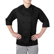 Chefwear 4025-BL Black  Lightweight 3/4 Sleeve Jacket