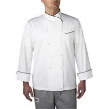 Chefwear 4130-BK Black Piping Regal Jacket