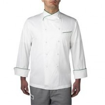 Chefwear 4130-GR Green Piping Regal Jacket
